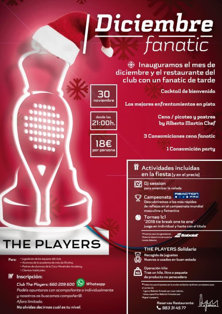 Fanatic para inaugurar diciembre y el restaurante La Fábrica